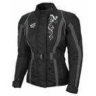 Текстильная женская куртка Mistic  чернo-серая