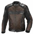 Мотокуртка кожаная Compass черно-коричневая