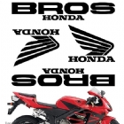 CRAZY IRON Комплект наклеек Honda Bros black