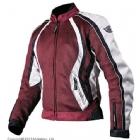 Мотоциклетная текстильная женская куртка XENA бордовая