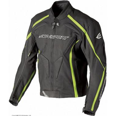 AGVSPORT Кожаная куртка Dragon черно-желтая