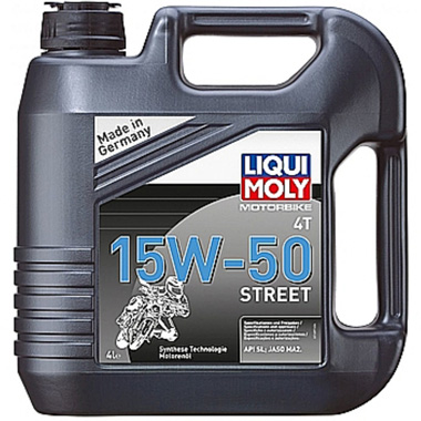 LIQUIMOLY моторное масло  4T Street 15W-50  4л