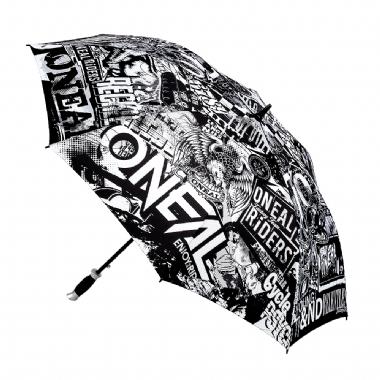 Зонт Moto ATTACK черно-белый
