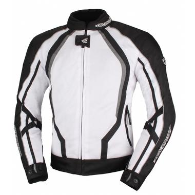 AGVSPORT Текстильная куртка Solare II чёрно-белая
