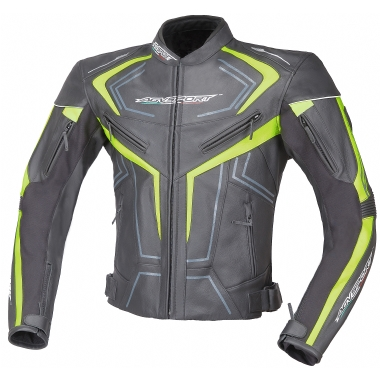 AGVSPORT Кожаная куртка Katana флюресцентно-желтая