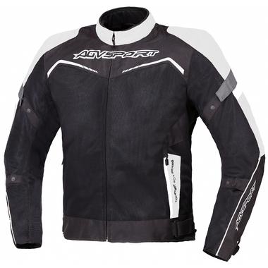 AGVSPORT Текстильная куртка Testilo черно-белая