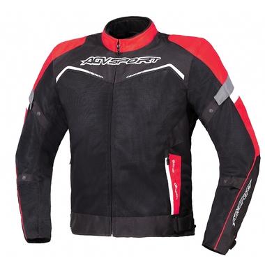 AGVSPORT Текстильная куртка Testilo черно-красная