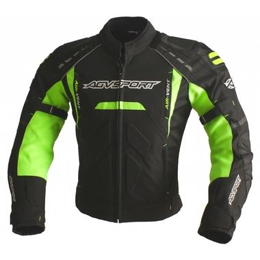 AGVSPORT Куртка текстильная SUBWAY черн. Флуоресцентно-желтая