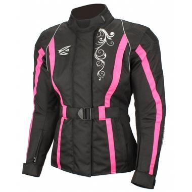 AGVSPORT Текстильная женская куртка Mistic черно-розовая