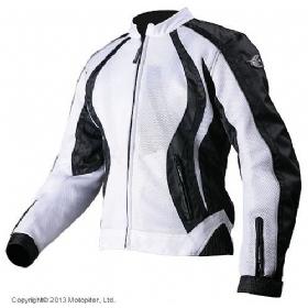 AGVSPORT Мотоциклетная текстильная женская куртка XENA белая
