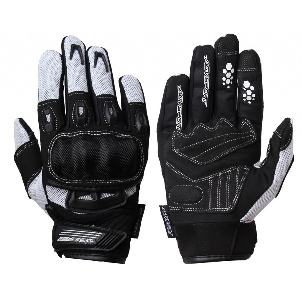 AGVSPORT Текстильные перчатки TWIST, белые
