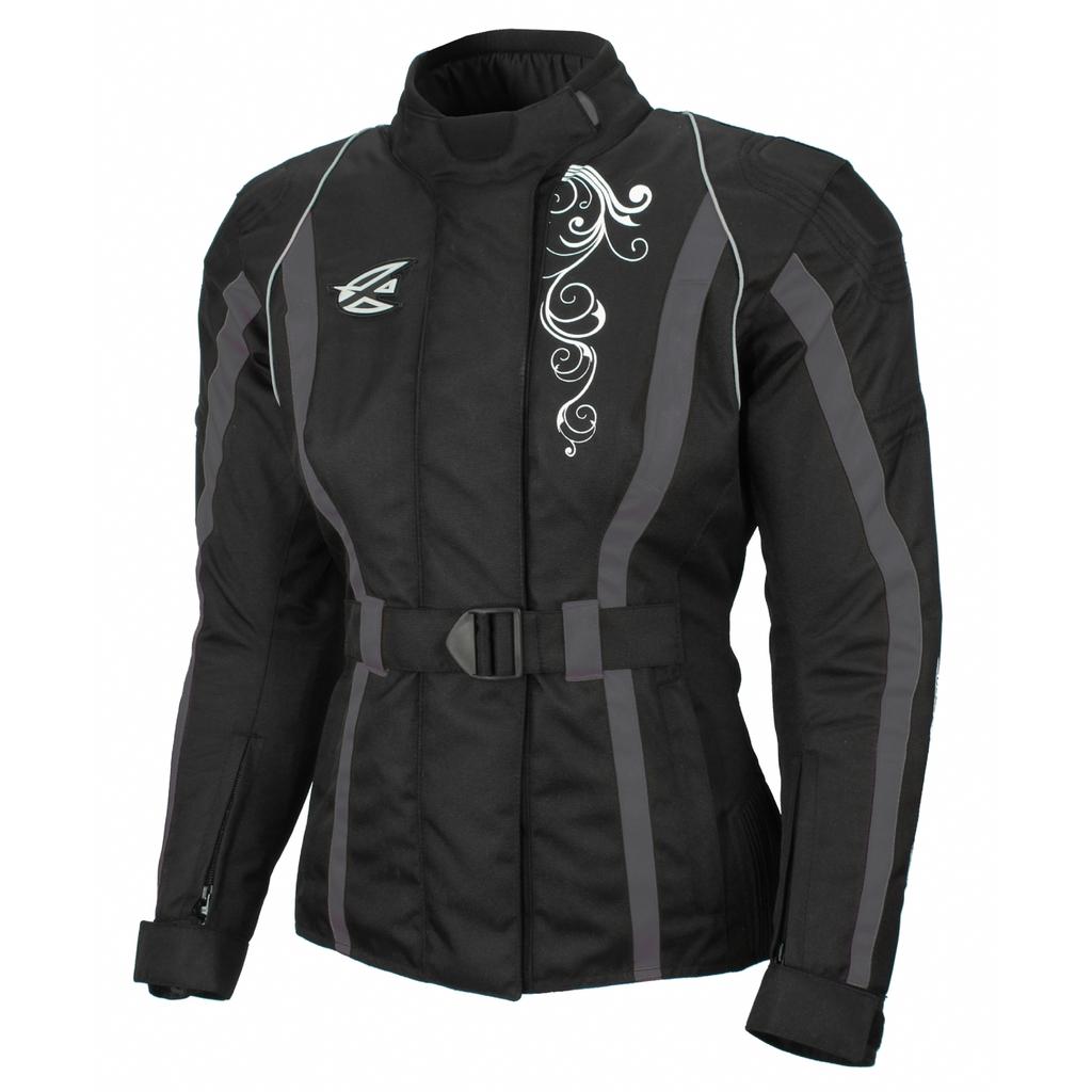 AGVSPORT Текстильная женская куртка Mistic  чернo-серая