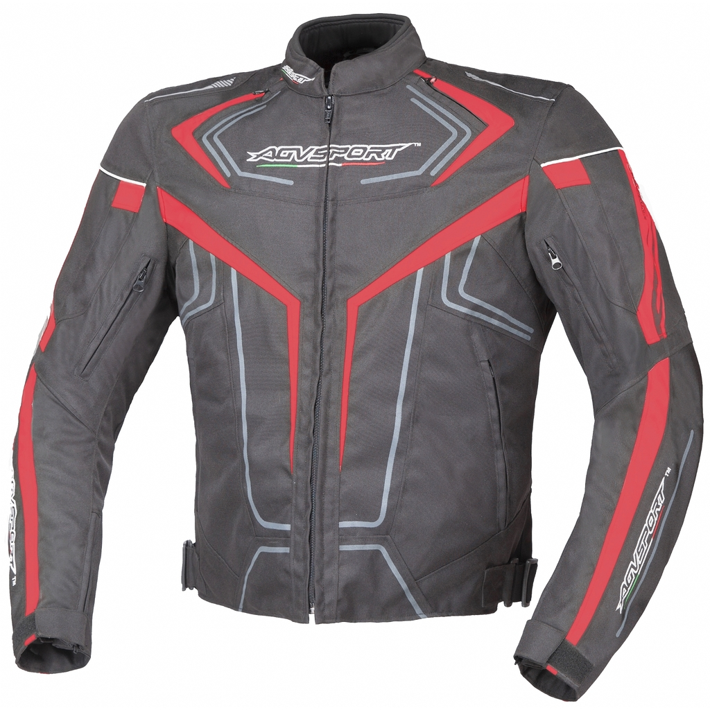 AGVSPORT Куртка текстильная Colomo красная