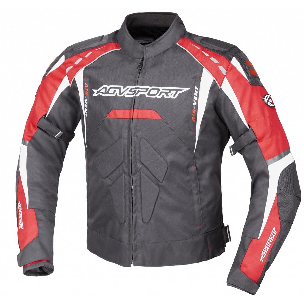 AGVSPORT Куртка текстильная SUBWAY черно-красная