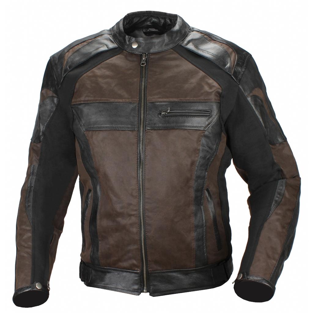 AGVSPORT Мотокуртка кожаная Compass черно-коричневая