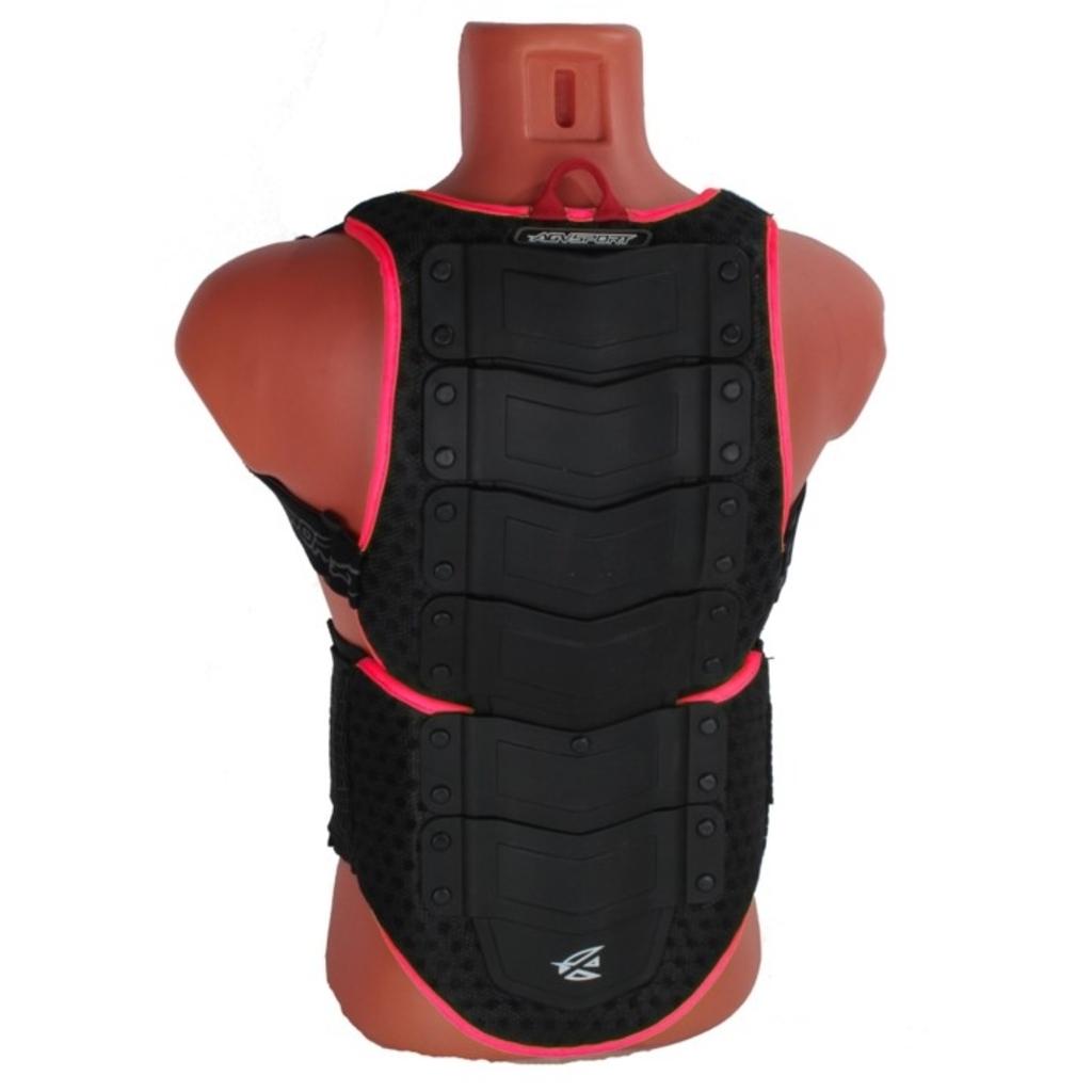 AGVSPORT Защита спины флуоресцентно розовая